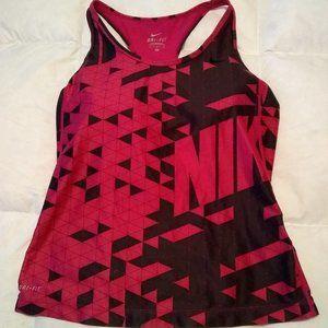 Nike Dri Fit Printed Mesh Victory Tank Size Medium